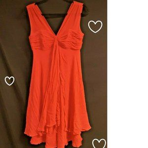 Donna Ricco SILK RED Dress Size 4
